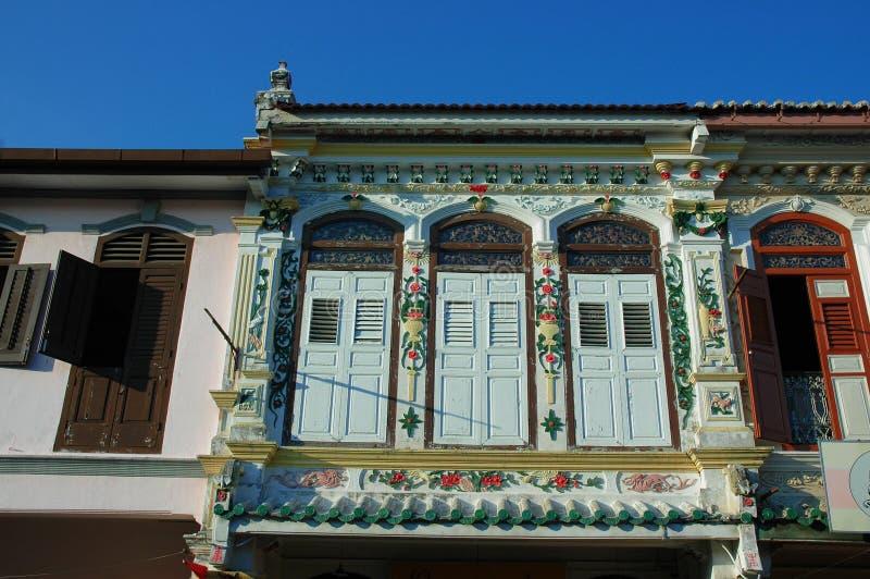 Erbgebäude in Malakka stockbilder