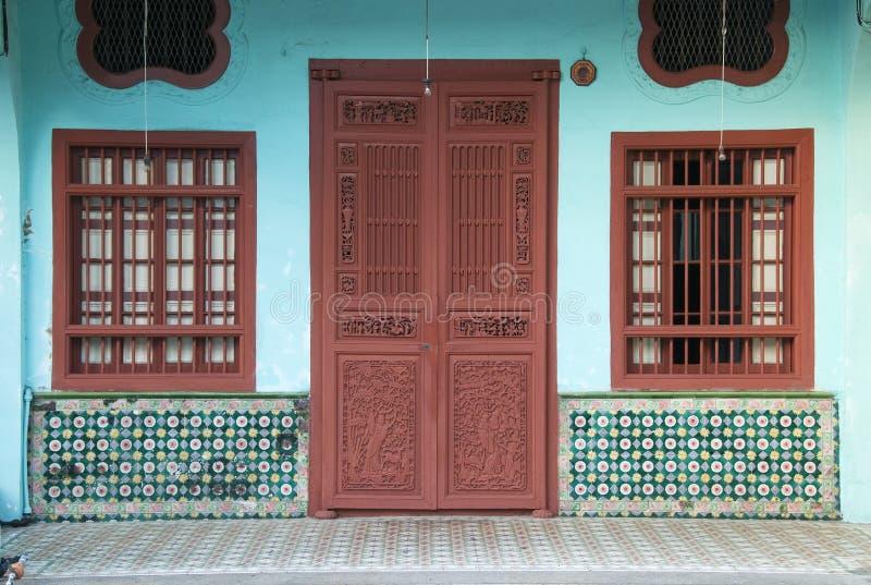 Erbhaus, George Town, Penang, Malaysia lizenzfreie stockfotos
