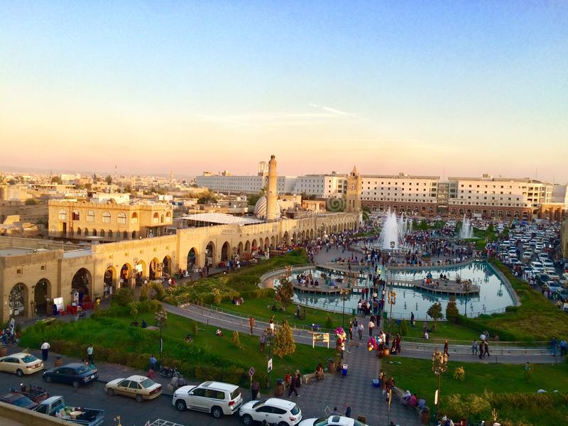Erbil citadel royalty free stock images