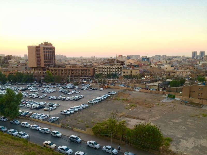 Erbil citadel stock photography