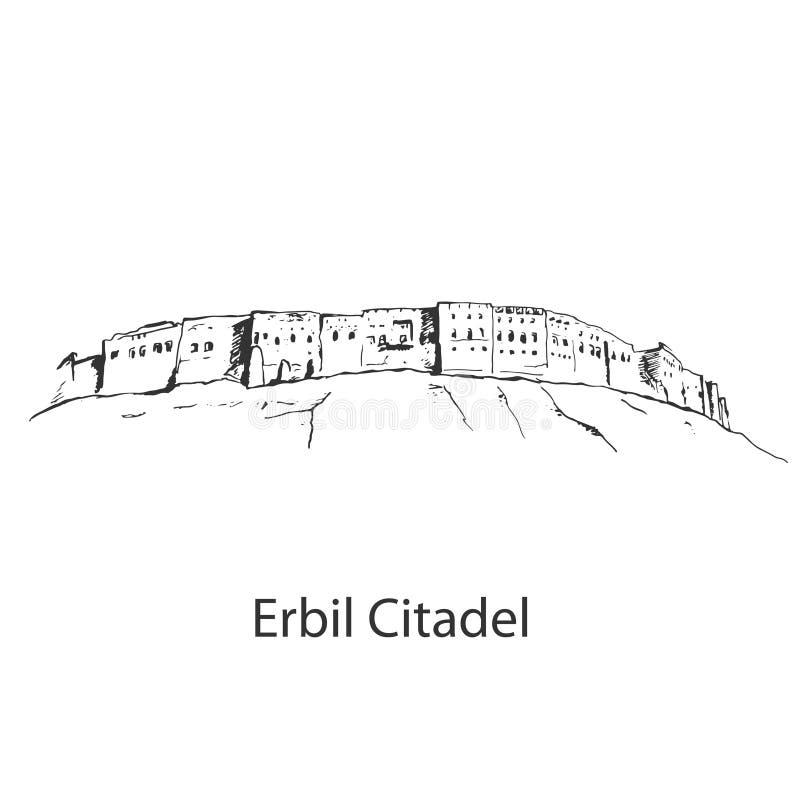 Erbil citadellKurdistan av Irak arkivbilder
