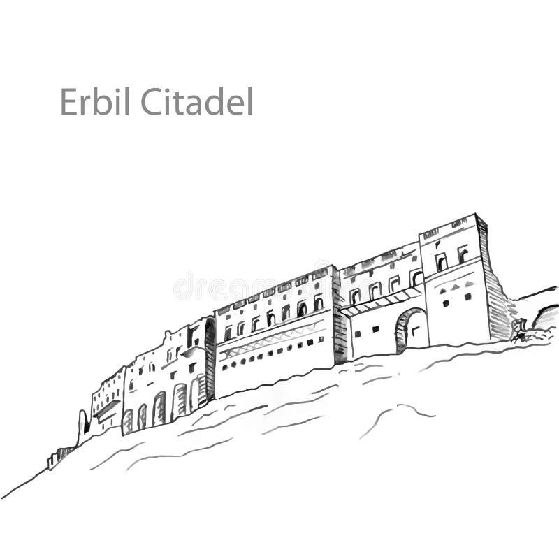 Erbil citadellKurdistan av Irak royaltyfri bild