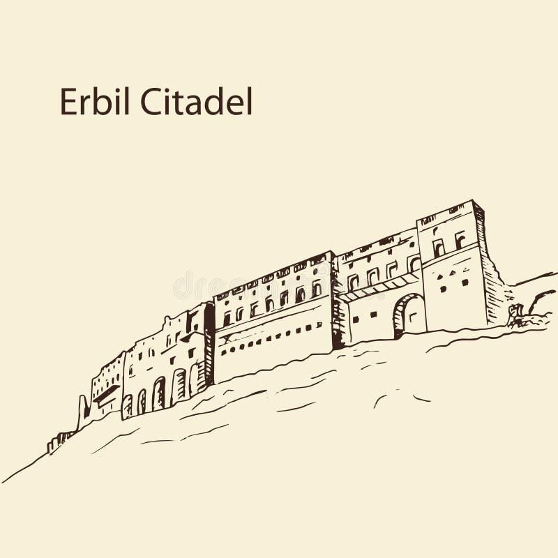 Erbil citadellKurdistan av Irak fotografering för bildbyråer