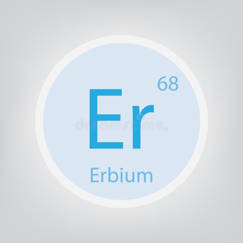 Erbium Er chemical element icon vector illustration