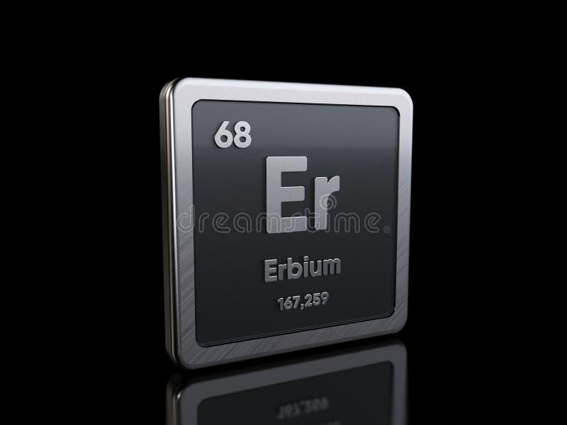 Erbium Er, element symbol from periodic table series stock illustration