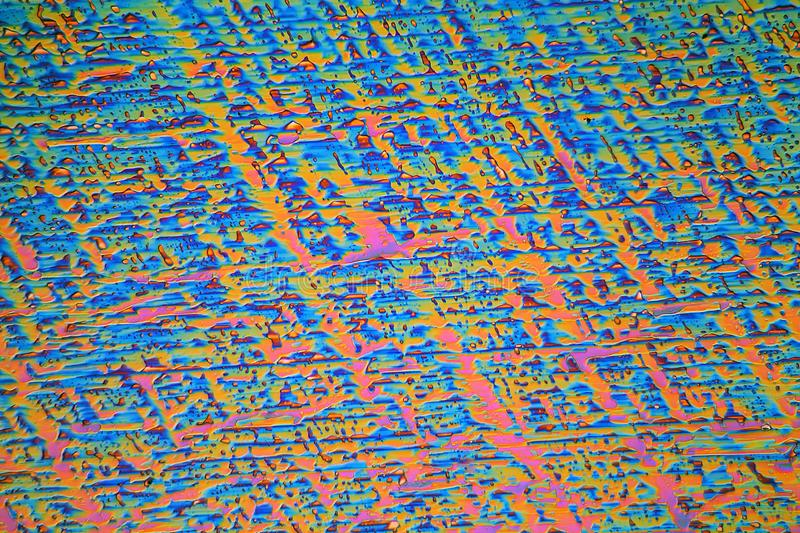 Erbium nitrate under the microscope and in polarized light royalty free stock photo