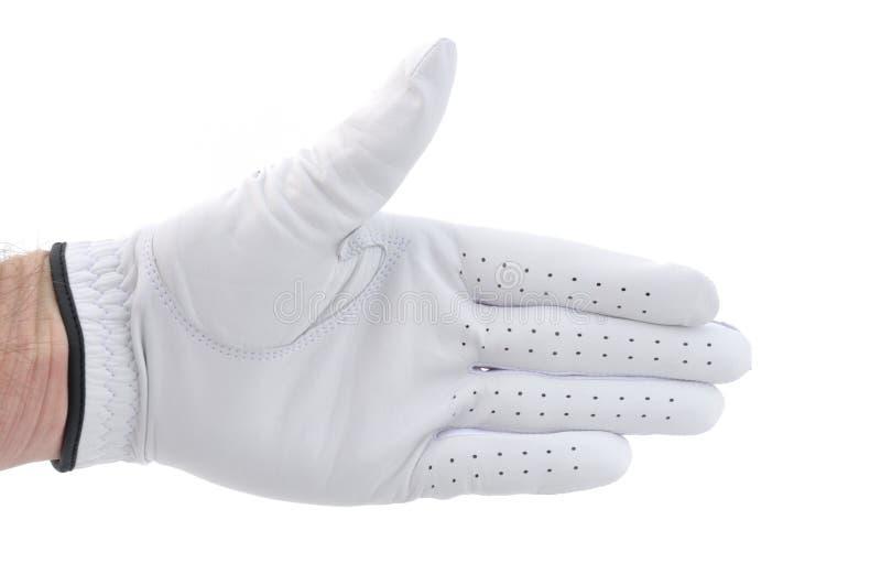 erbjuda för golfarehandskakning royaltyfria foton