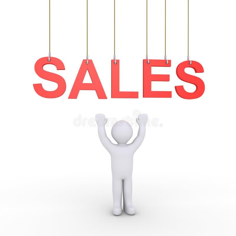 Erbjuda för personförsäljningar stock illustrationer
