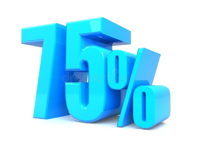 65% erbjudande, erbjudandepris, rabatt, befordran för sextiofem procentförsäljningar, tolkning 3D på vit bakgrund stock illustrationer
