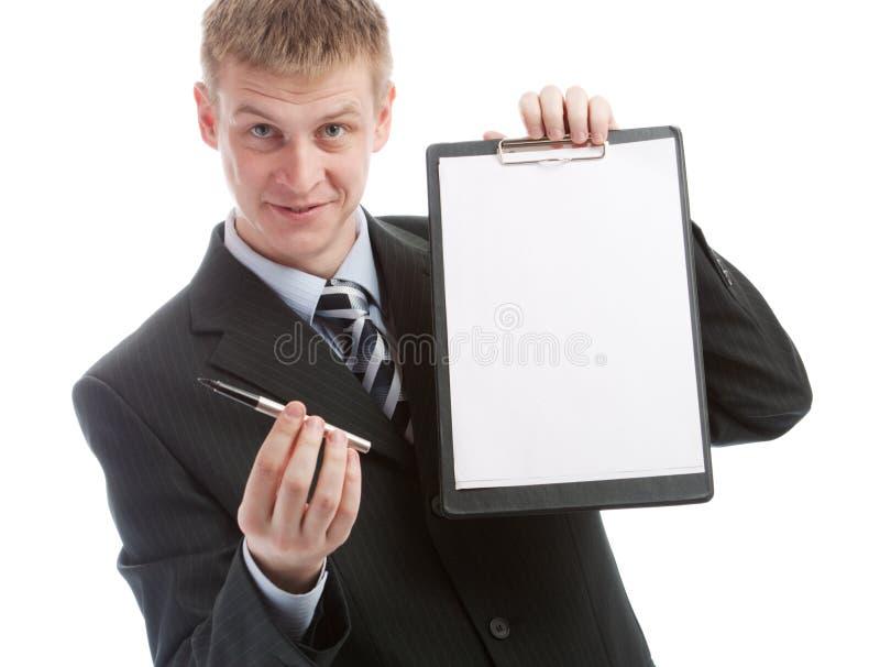 erbjudande penntecken för avtal till fotografering för bildbyråer
