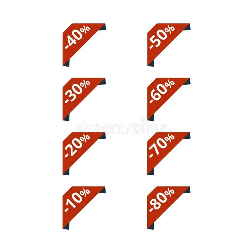 erbjudandesymbol Idérik beståndsdeldesign från att shoppa klistermärkesymbolssamlingen Perfekt erbjudandesymbol för PIXEL för ren vektor illustrationer