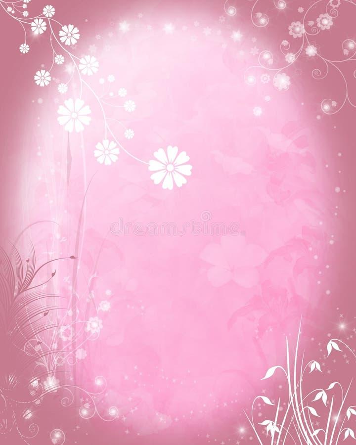 Erblassen Sie - rosafarbenen Blumenhintergrund stock abbildung