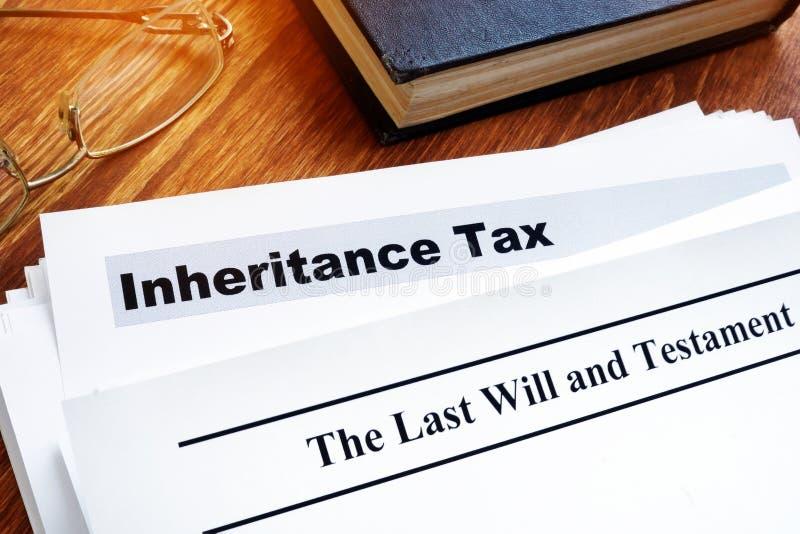 Erbschaftssteuer und letzter Wille lizenzfreie stockfotos
