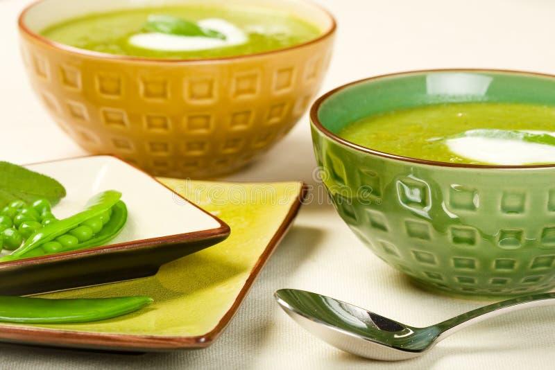 Erbsen-Suppe lizenzfreies stockfoto