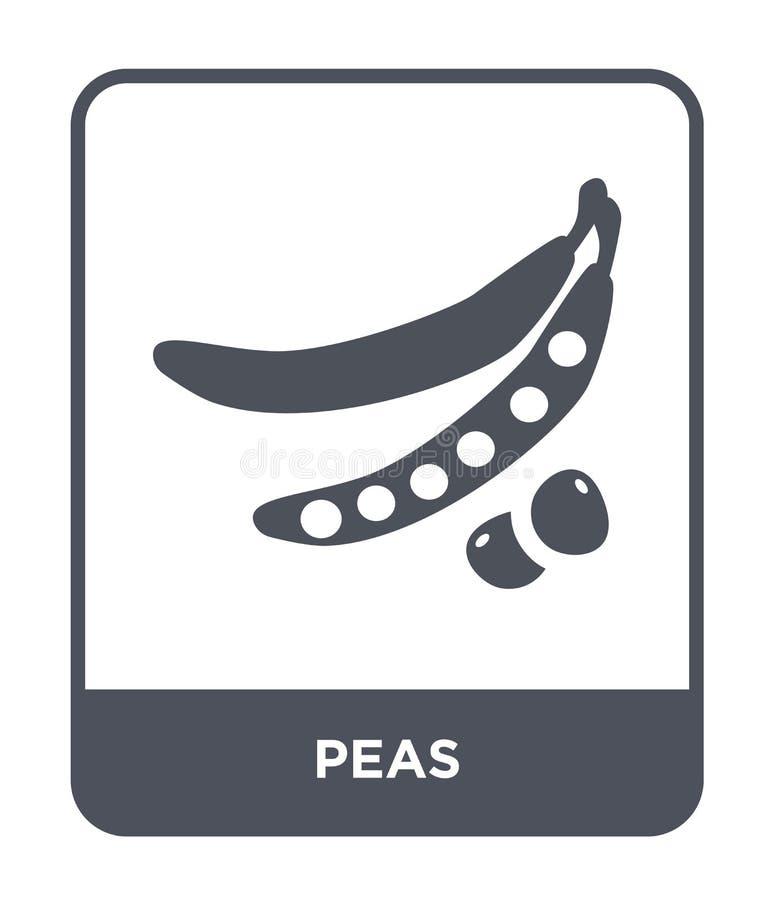 Erbsenikone in der modischen Entwurfsart Erbsenikone lokalisiert auf weißem Hintergrund einfaches und modernes flaches Symbol der lizenzfreie abbildung