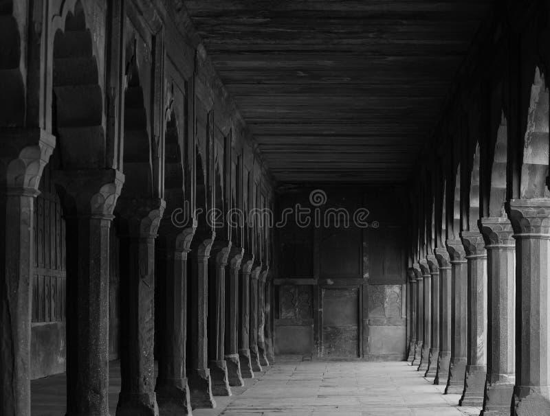 Erbspalten bei Taj Mahal lizenzfreie stockfotografie