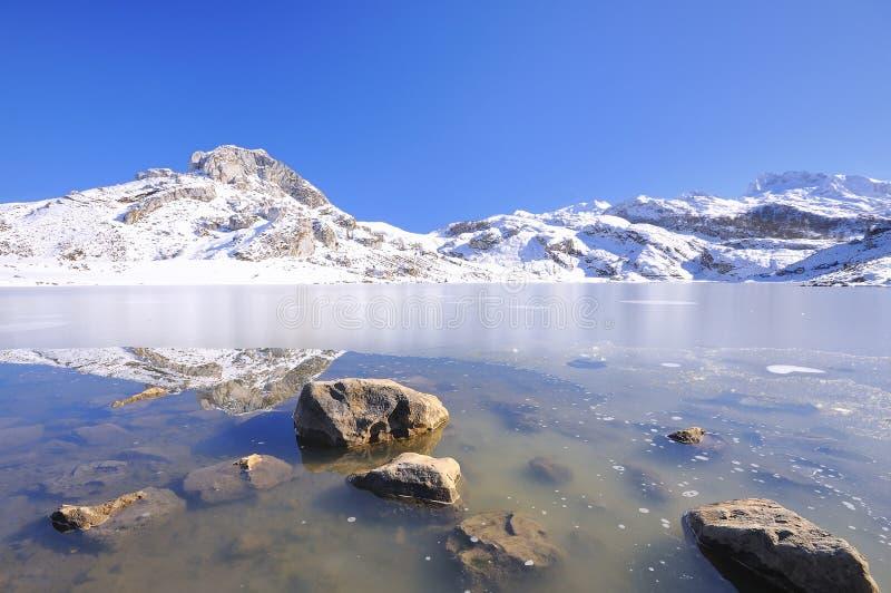 Ercina λίμνη, αστουρίες, Ισπανία. στοκ φωτογραφία με δικαίωμα ελεύθερης χρήσης