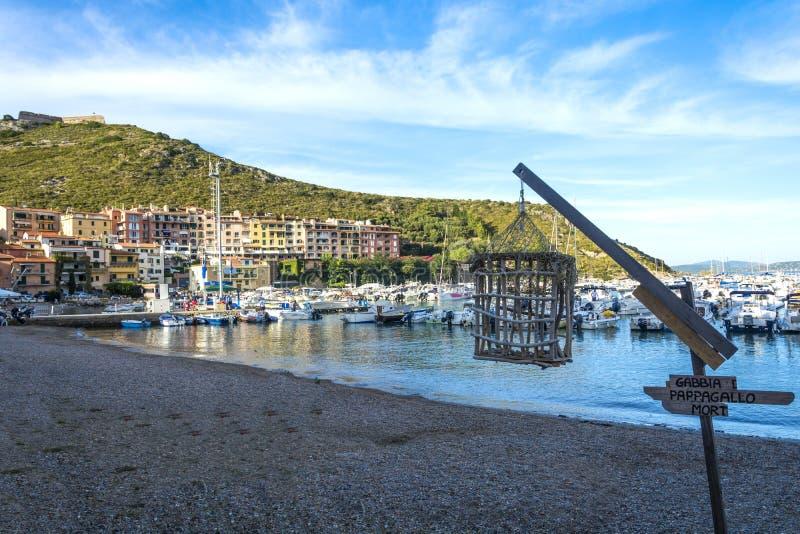 Ercole порта Toscany стоковая фотография