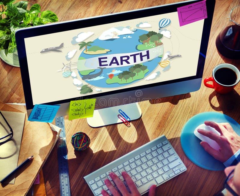 Erdökologie-Umwelt-Erhaltungs-Kugel-Konzept lizenzfreie stockfotos