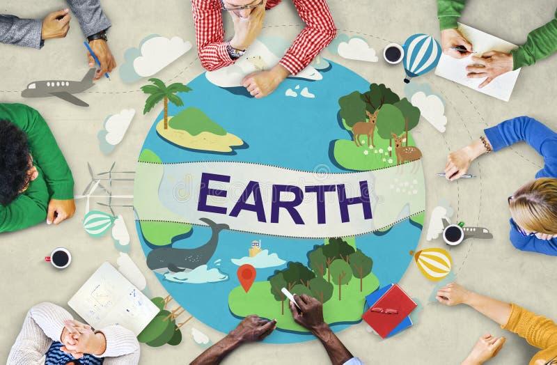 Erdökologie-Umwelt-Erhaltungs-Kugel-Konzept lizenzfreie stockbilder