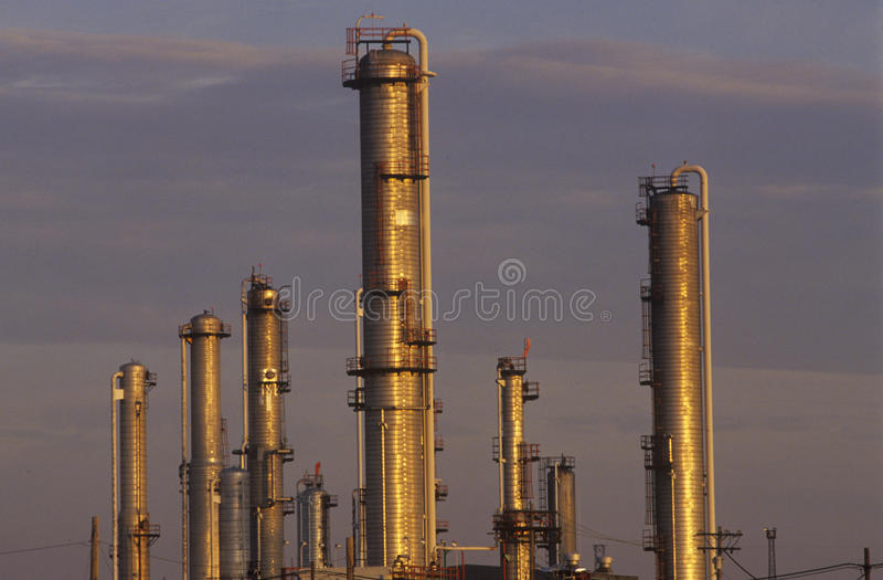 Erdöl-Verarbeitungsanlage bei Sarnia, Kanada stockfotos