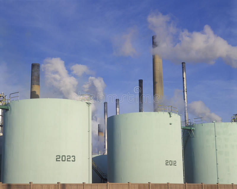 Erdölraffinerie in Sarnia, Kanada stockfotografie