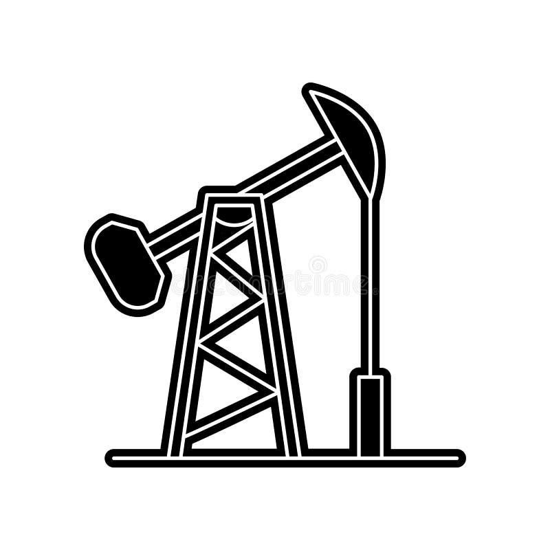 Erd?lbohrturmikone Element von arabischem f?r bewegliches Konzept und Netz Appsikone Glyph, flache Ikone f?r Websiteentwurf und E lizenzfreie abbildung