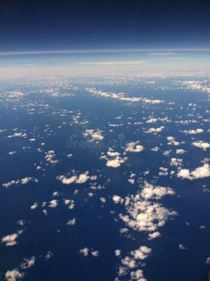 Erdatmosphäre lizenzfreies stockbild