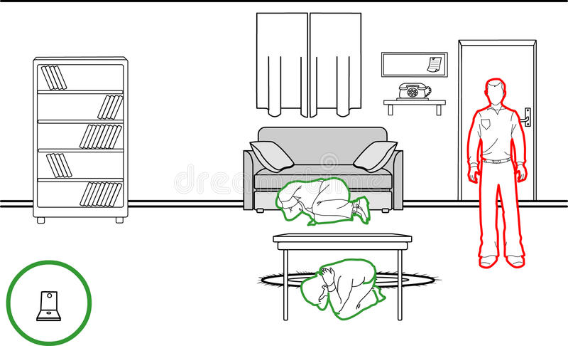 Erdbebenschutzmethoden vektor abbildung