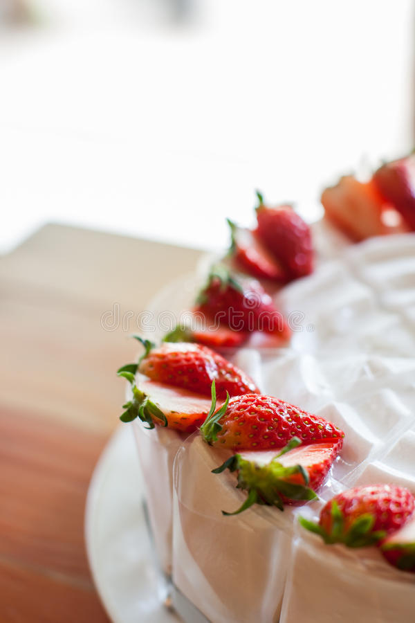 Erdbeere cake lizenzfreie stockfotografie