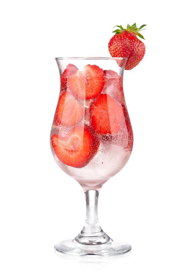 Erdbeere Fizzcocktail lizenzfreie stockfotos