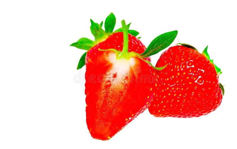 Erdbeere getrennt auf weißem Hintergrund Über Weiß stockbild