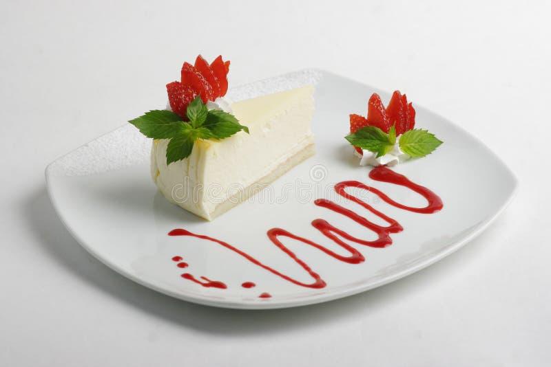 Erdbeere-Käsekuchen stockfoto