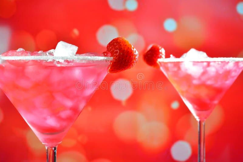 Erdbeere Margarita Cocktail stockbild