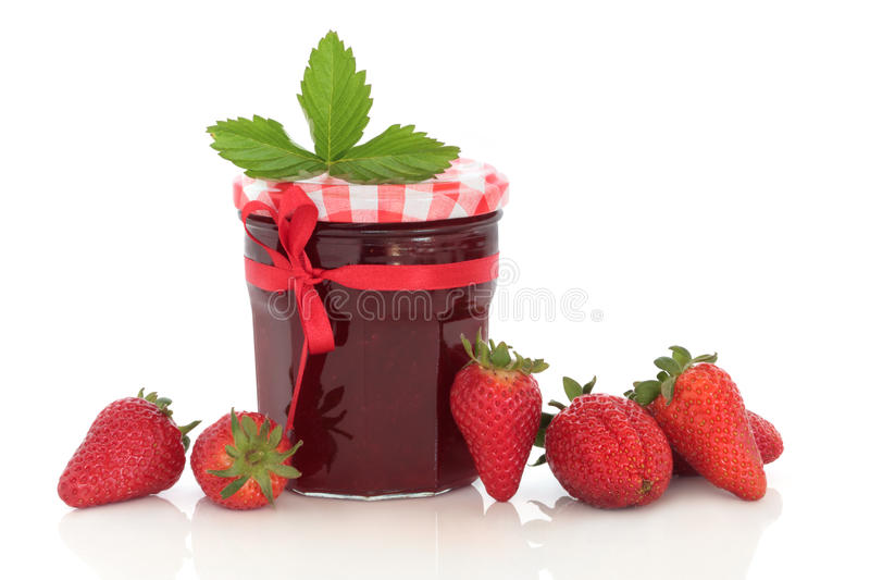 Erdbeere-Marmelade lizenzfreie stockfotos