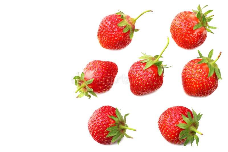 Erdbeere mit den Scheiben lokalisiert auf wei?em Hintergrund Beschneidungspfad eingeschlossen stockfoto