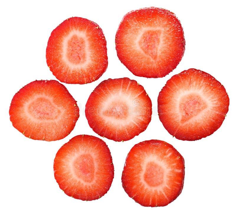 Erdbeere-Scheiben lizenzfreies stockfoto