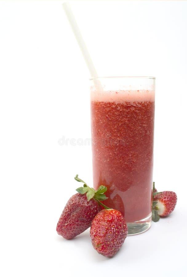 Erdbeere Smoothie lizenzfreie stockbilder