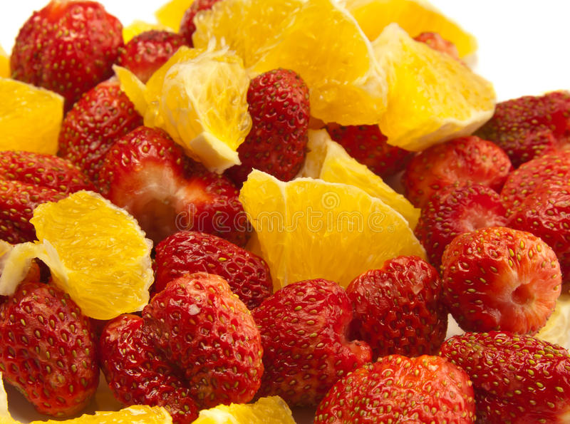 Erdbeere und Orange stockfotografie
