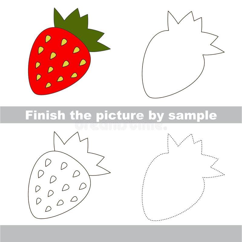 Erdbeere Zeichnungsarbeitsblatt lizenzfreie abbildung