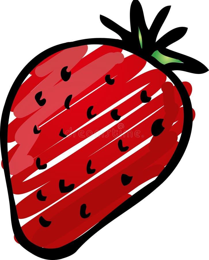 Erdbeereabbildung lizenzfreie abbildung