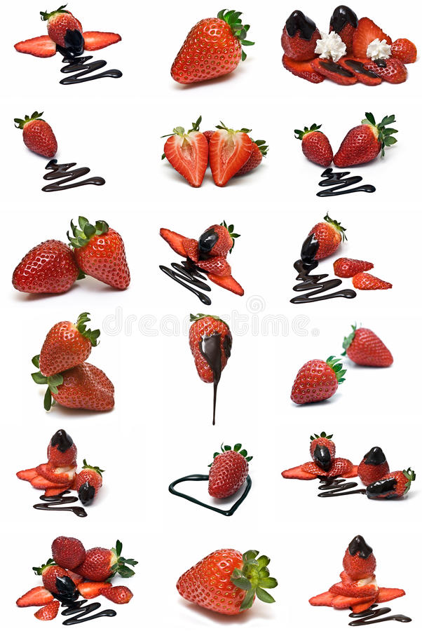 Erdbeereansammlung. lizenzfreies stockfoto