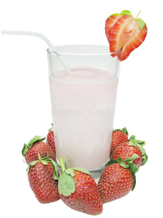 Erdbeerecocktail lizenzfreie stockbilder