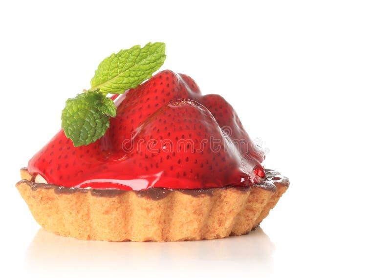 Erdbeerefruchttörtchen lizenzfreie stockbilder