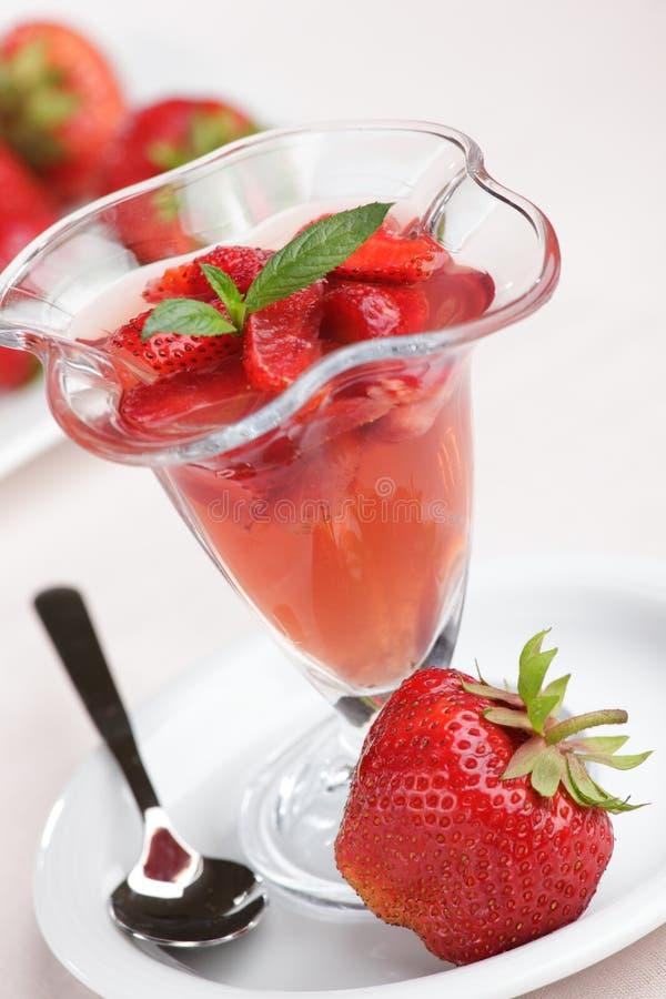 Erdbeeregelee lizenzfreies stockfoto