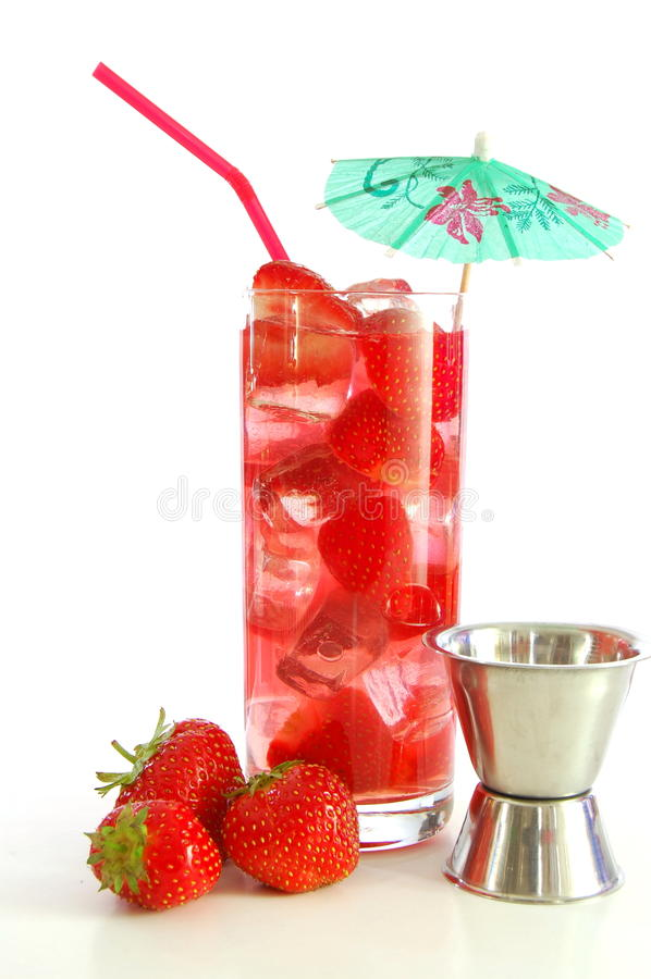 Erdbeeregetränk stockfotografie