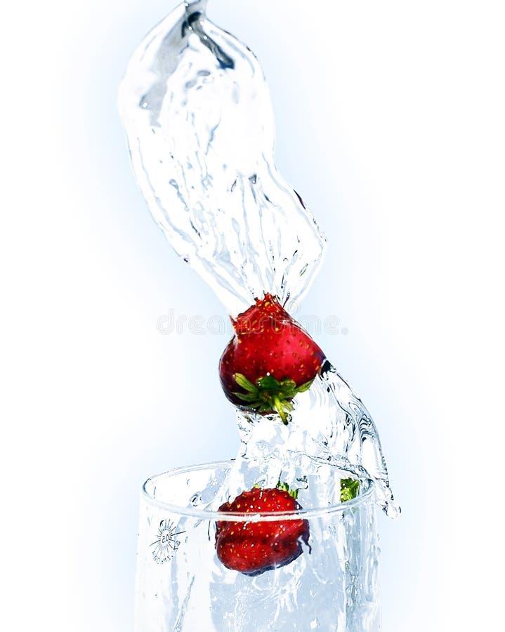 Erdbeeregetränk lizenzfreies stockfoto