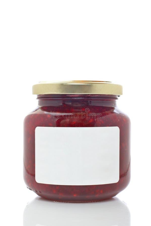 Erdbeereglasglas stockfoto
