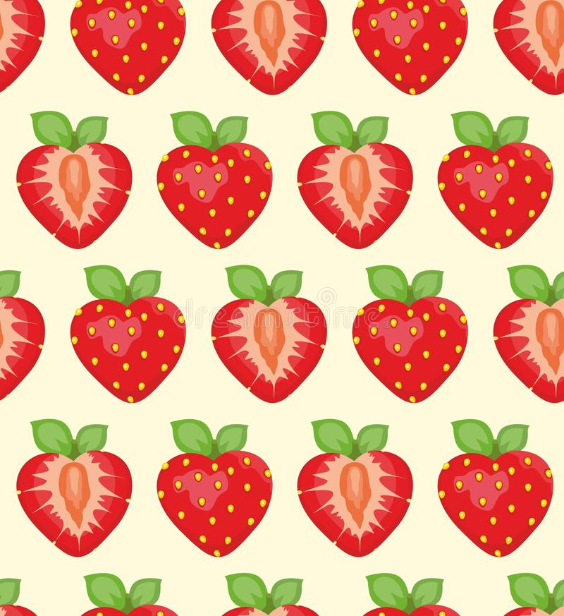 Erdbeerehintergrund stock abbildung