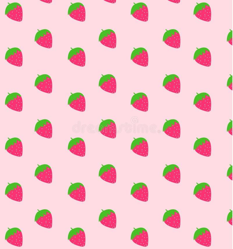 Erdbeerehintergrund lizenzfreie abbildung